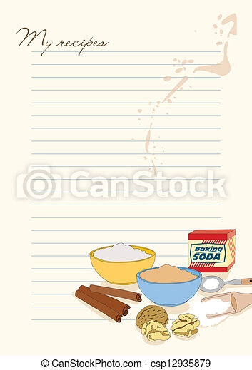 Template for recipes - csp12935879
