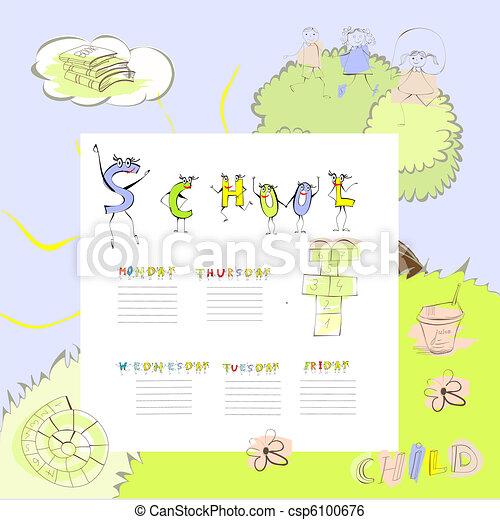 Template for school schedule - csp6100676