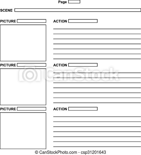 Template for the script storyboard