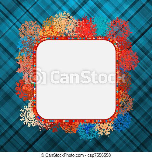 Template frame design for xmas card. EPS 8 - csp7556558