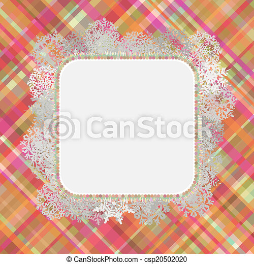 Template frame design for xmas card. EPS 8 - csp20502020