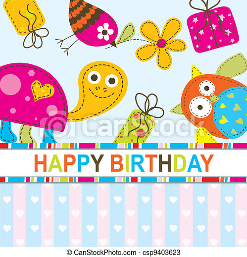 Template greeting card, vector - csp9403623