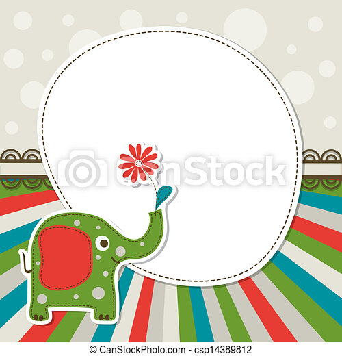 Template greeting card, vector - csp14389812