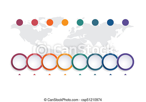 Template Infographic Color Bubble Chart  Positions  Picture