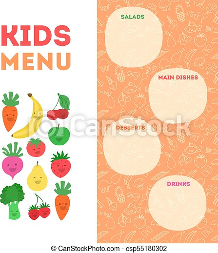 Kids Menu Template Under Bergdorfbib Co