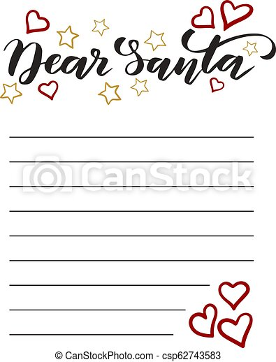 Template Letter to Santa - csp62743583