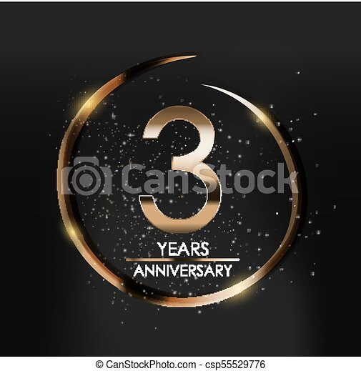 template logo 3 years anniversary vector illustration eps10