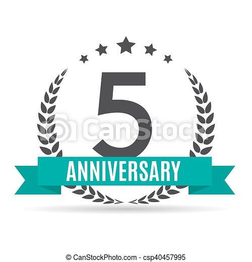 Template Logo 5 Years Anniversary Vector Illustration Eps10