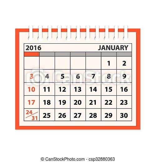 Template Of The Calendar Flat Modern Design Concept Of Clip Art