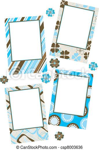 Template photo frames, vector - csp8003636