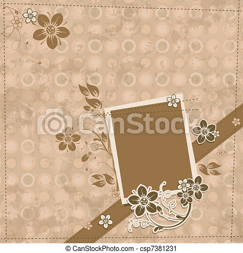 Template scrap card, vector - csp7381231