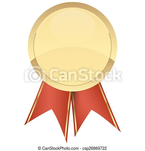template seal of quality gold with ribbons - csp26869722