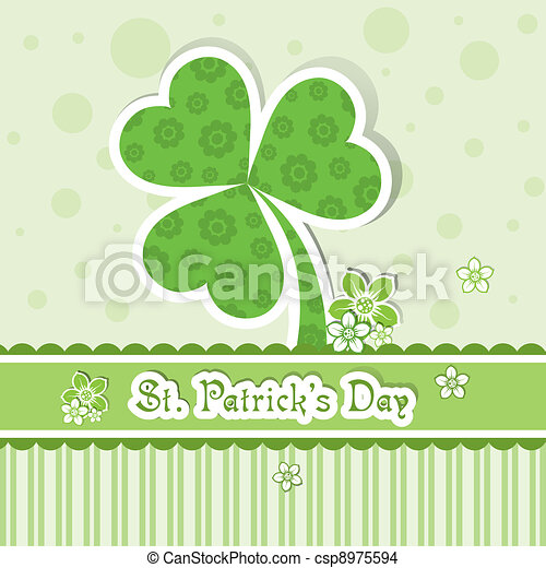 Template St. Patrick's day greeting card, vector - csp8975594