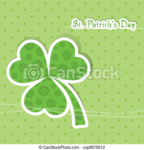 Template St. Patrick's day greeting card, vector - csp8975612
