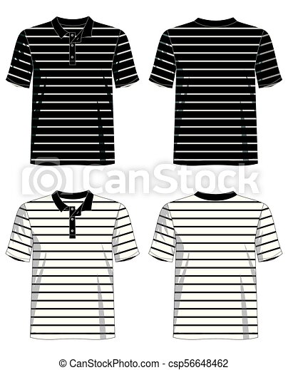 a534bfd6c Template t shirt polo striped. Design vector t shirt template ...