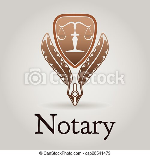 Template vector logo for legal, notary organization. - csp28541473