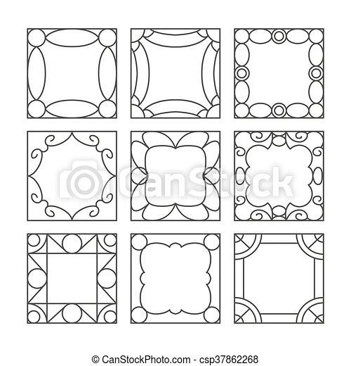 Template vector photo frames - csp37862268