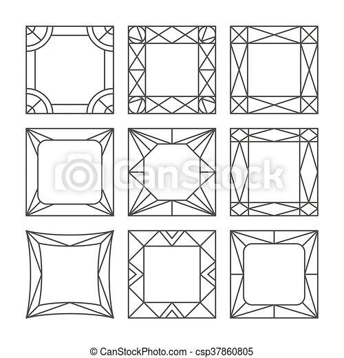 Template vector photo frames - csp37860805