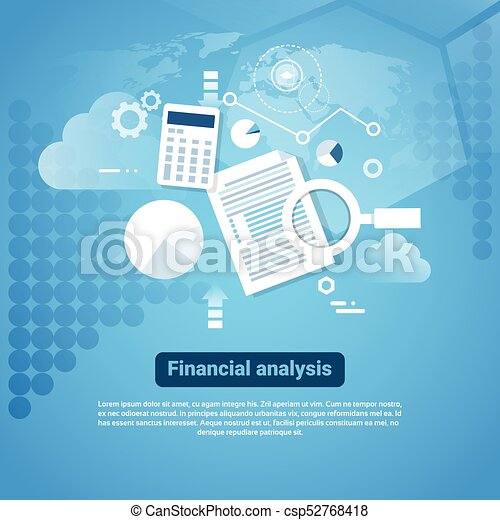 Template Web Banner With Copy Space Financial Analysis Concept - csp52768418