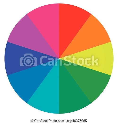template wheel fortune, color palette, vector