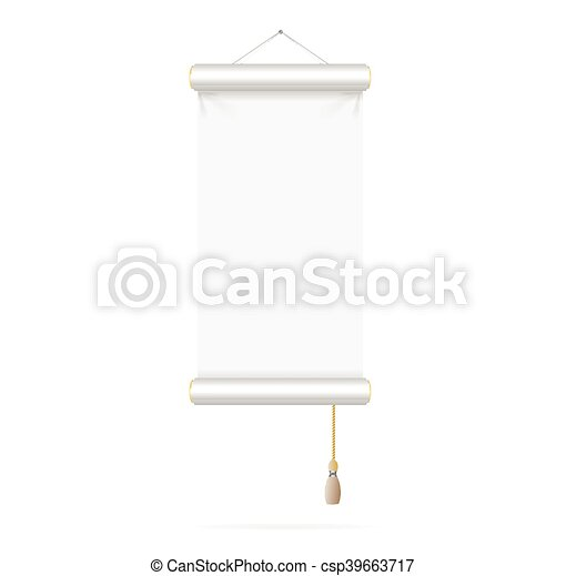 template white paper scroll vector template white paper scroll on
