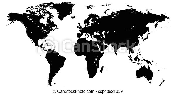 Template world map planet earth silhouettes of continents template world map planet earth silhouettes of continents and islands high detail world map gumiabroncs Choice Image