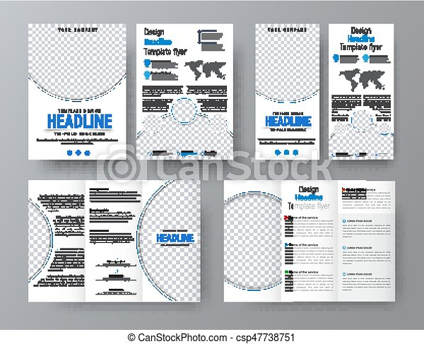 Templates Of Flyers Brochures Of Standard Size For Business With
