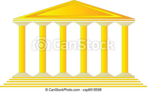 temple, grec - csp6918598