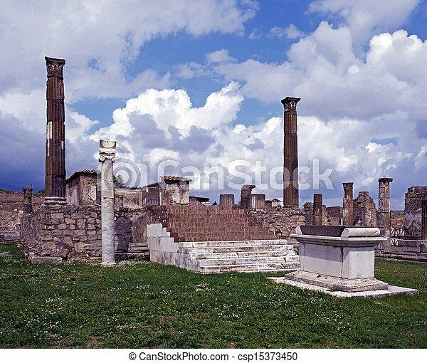 Temple of Apollo, Pompeii. - csp15373450