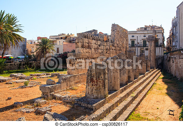 Temple of Apollo, Siracusa  - csp30826117