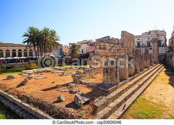 Temple of Apollo, Siracusa  - csp30826046