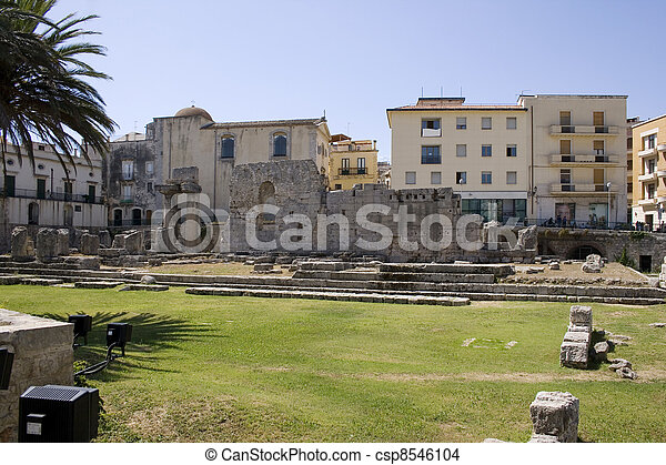 Temple of Apollo, Siracusa  - csp8546104