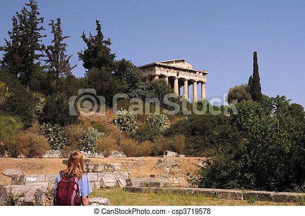 Temple of Hephaestus in Athens - csp3719578
