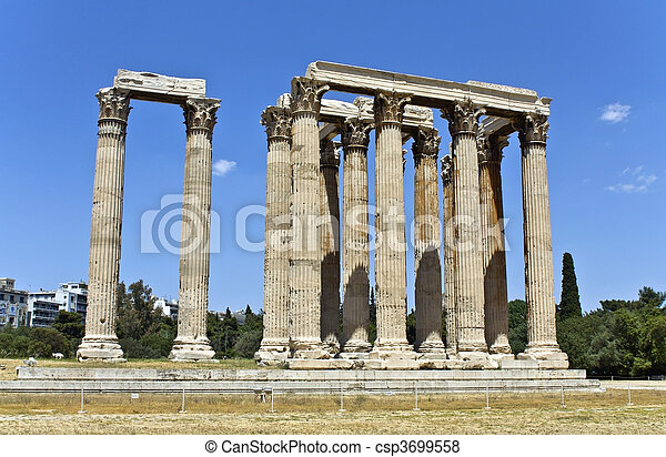 Temple of the Olympian Zeus at Athe - csp3699558