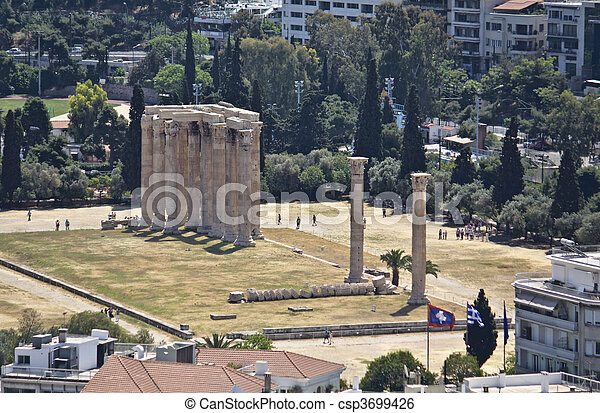 Temple of the Olympian Zeus at Athe - csp3699426