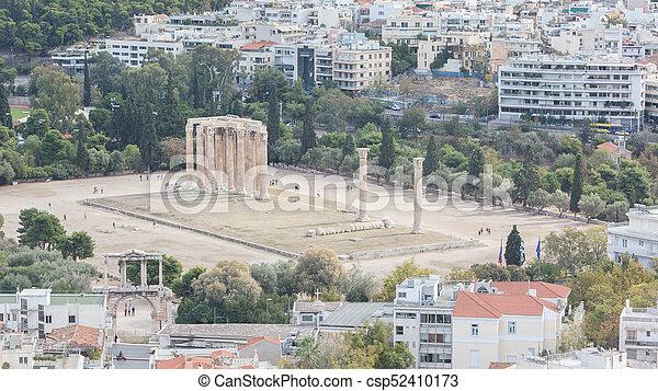 Temple of Zeus, Athens - csp52410173