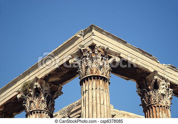 Temple of Zeus, Athens - csp6378085