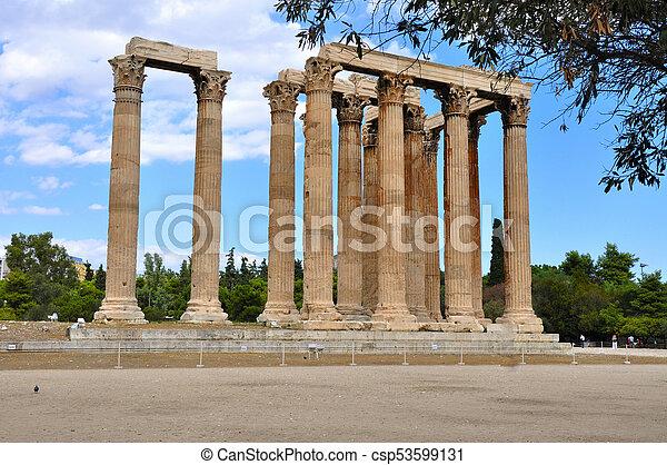 Temple of Zeus - csp53599131