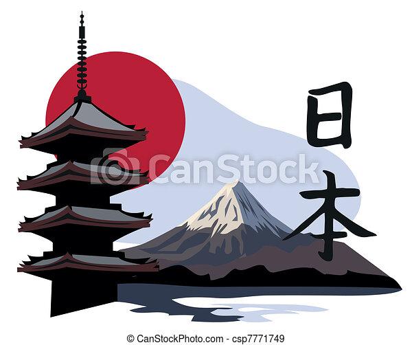 temple, pagode, fuji - csp7771749