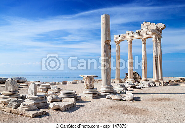 temple, ruines, apollo - csp11478731
