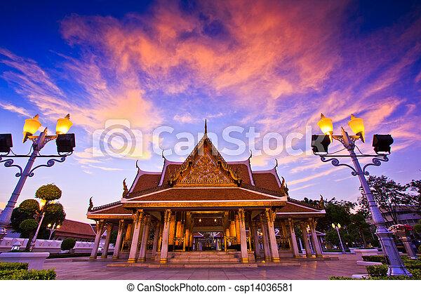 Temple wat in bangkok thailand - csp14036581