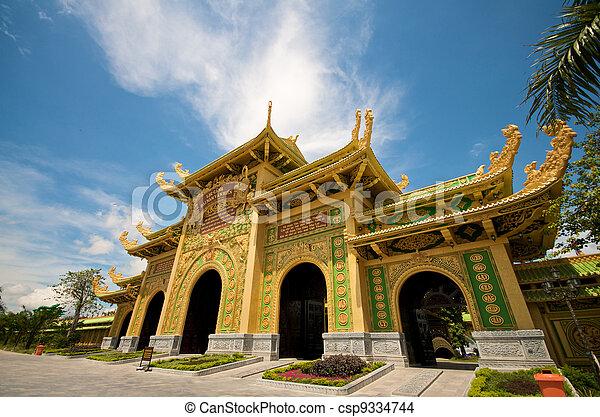 Templo de adoración en Vietnam - csp9334744