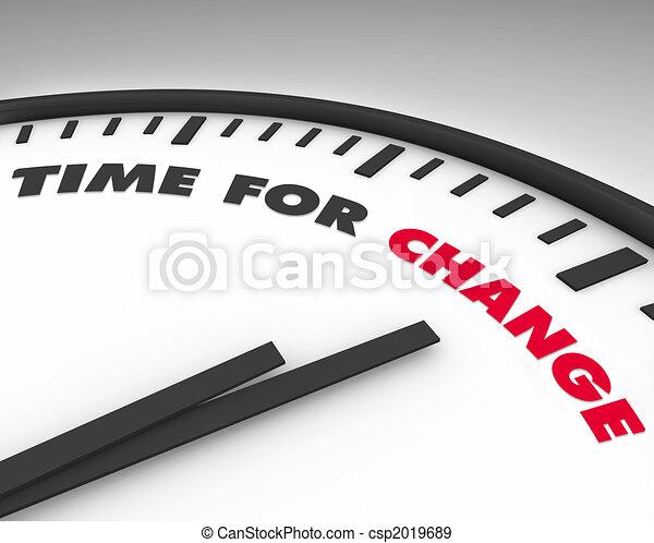 tempo, -, cambiamento, orologio - csp2019689