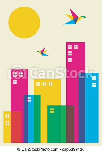 tempo primaverile, città - csp5399138