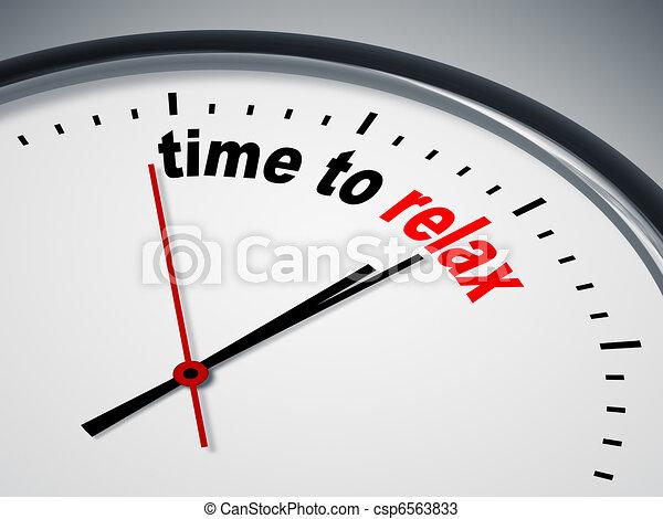 tempo, relaxe - csp6563833