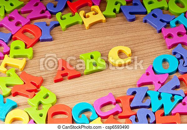 temprano, cartas, concepto, educación - csp6593490