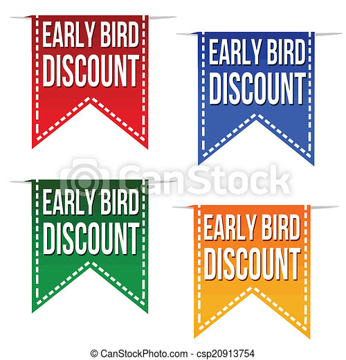 Las cintas de descuento de los primeros pájaros - csp20913754