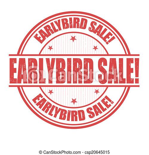 Un sello de venta de aves - csp20645015