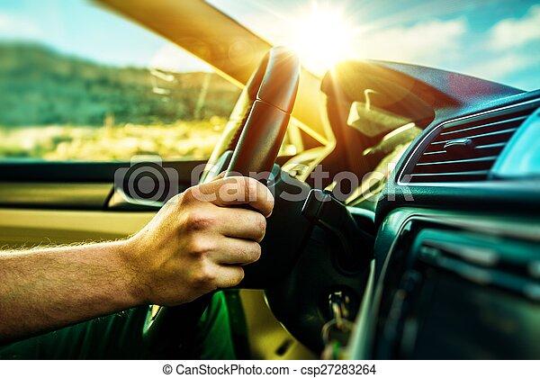 temps été, voyage, voiture - csp27283264