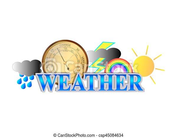 temps, icône, signe - csp45084634